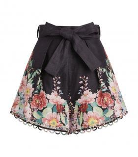 Zimmermann Linen High Waist Bellitude Shorts