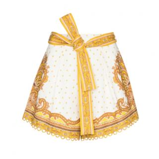Zimmermann yellow paisley The Bells Tuck shorts