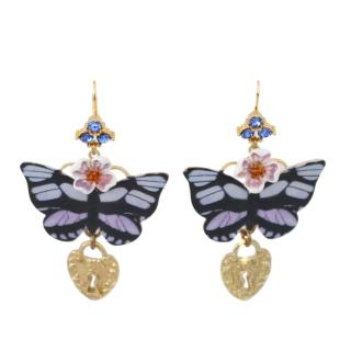 Dolce & Gabbana Butterfly Crystal Clip-On Earrings