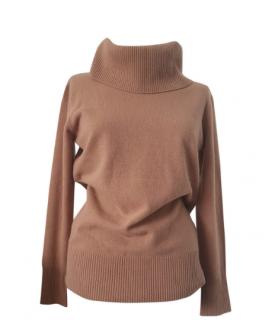 MaxMara brown wool roll-neck knit jumper