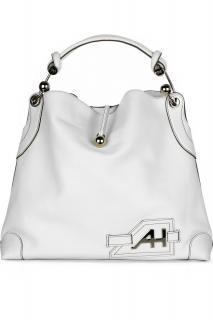 Anya Hindmarch white leather Elrod shoulder bag