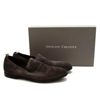 Officine Creative Jep 1 Distressed Brown Suede Loafers