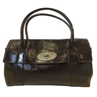 Mulberry Oxblood East West patent leather bayswater bag