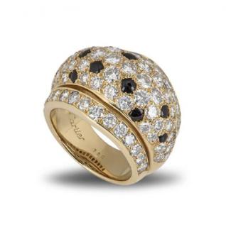 Cartier Nigerian Diamond Onyx curved Ring
