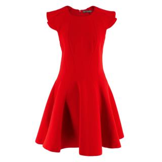 Alexander McQueen Red Fit & Flare A-Line Mini Dress
