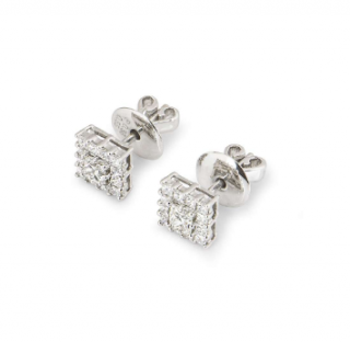 Bespoke White Gold Diamond Stud Earrings