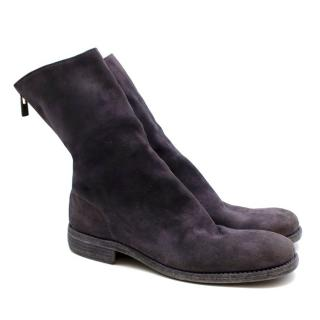 Guidi Suede Distressed Zipped Boots
