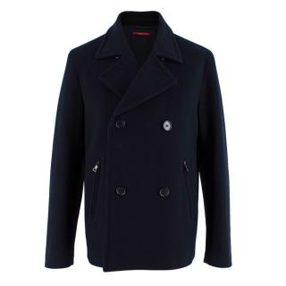 Prada Navy Blue Wool Peacoat