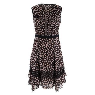 Jason Wu Silk Spotted Mini Dress