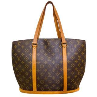 Louis Vuitton brown monogram coated canvas tote bag