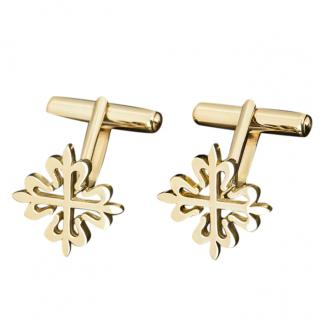 Patek Philippe 18ct yellow gold Calatrava cross cufflinks