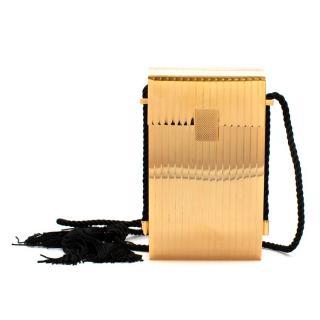 Victoria Beckham Gold Box Minaudiere Cross Body Bag