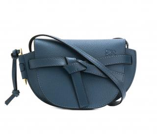 Loewe Azul blue Mini Gate leather crossbody