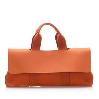 Hermes orange valparaiso long PM handle bag