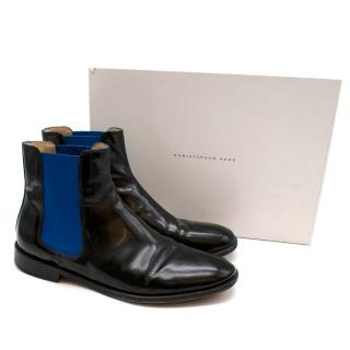 Christopher Kane Two-Tone Leather Chelsea Boots