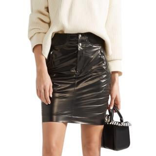 Isabel Marant Amel faux leather silk mini skirt