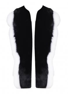 FurbySD black & white fox fur gilet