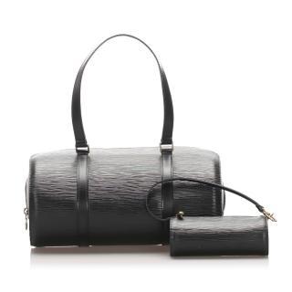 Louis Vuitton Epi Soufflot Black Top Handle Bag