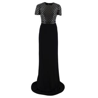 Burberry Prorsum Black Studded Gown