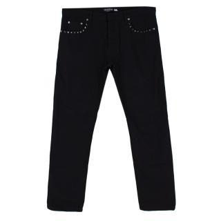 Valentino Black Rockstud Denim Jeans