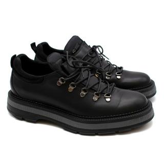 Dior Homme Black Lace-Up Chunky Brogues