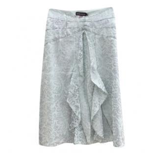 Antik-Batik green & silver wool skirt