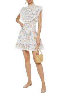 Zimmermann Bowie floral print ruffled mini dress