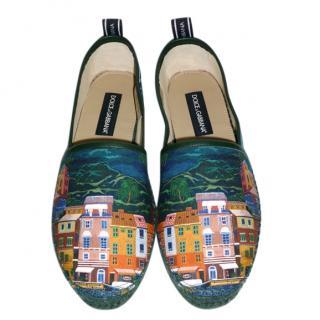 Dolce & Gabbana Portofino Printed Espadrilles