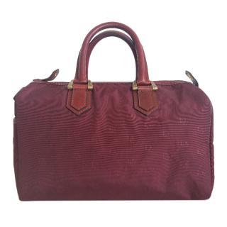 Dior Vintage fabric burgundy monogram bag 1988