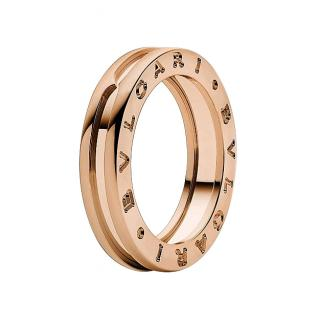 Bvlgari rose gold B-ZERO ring