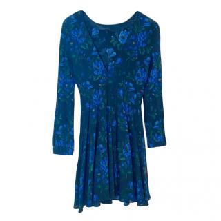 Miu Miu Blue/Black Printed Mini Dress