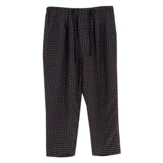 Dolce & Gabbana Men's Patterned Silk Trousers