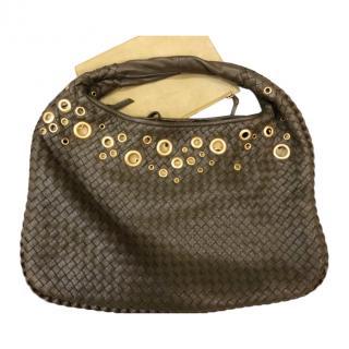 Bottega Veneta Olive Green Eyelet Detail Hobo Bag
