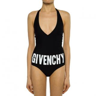 Givenchy Black Logo Halterneck Swimsuit
