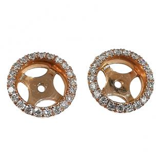 William & Son interchangeable diamond halo earrings