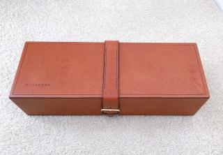 Burberry brown leather watch/jewellery box