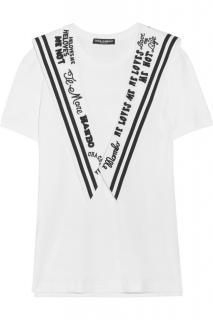 Dolce & Gabbana embroidered white t shirt