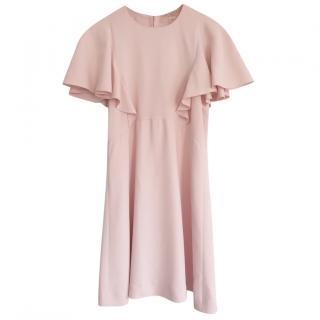 Giambattista Valli Pale Pink Flutter Sleeve Mini Dress