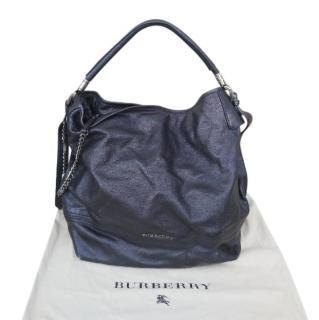 Burberry Black Leather Chain Detail Shoulder Bag