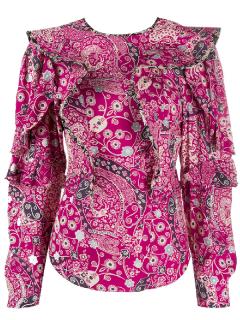 Isabel Marant Etoile Pink Paisley Constance Blouse