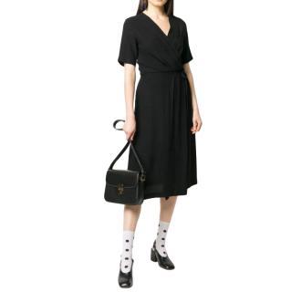 A.P.C Mathilda Black Faux Wrap Dress