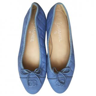 Chanel Quilted Denim Ballerinas