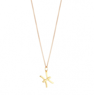 Chloe Zodiac Collection Gold Tone Pisces Pendant Necklace
