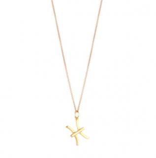 Chloe Zodiac Collection Gold Tone Pisces Pendant Necklace