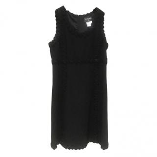 Chanel Ribbon Trim Tweed Sleeveless Mini Dress
