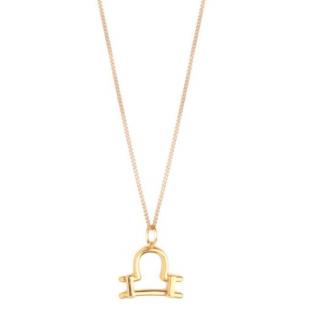 Chloe Zodiac Collection Gold Tone Libra Pendant Necklace