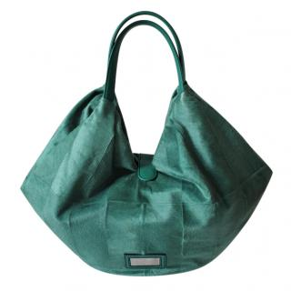 Valentino Green Pony Hair 360 Hobo Tote