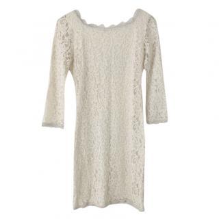 Diane Von Furstenberg Ivory Lace Zarita Dress