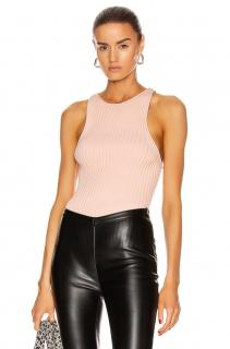 Alexander Wang Melon Rib Knit Sleeveless Tank