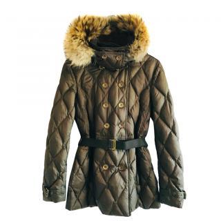 Burberry Brit khaki puffa jacket